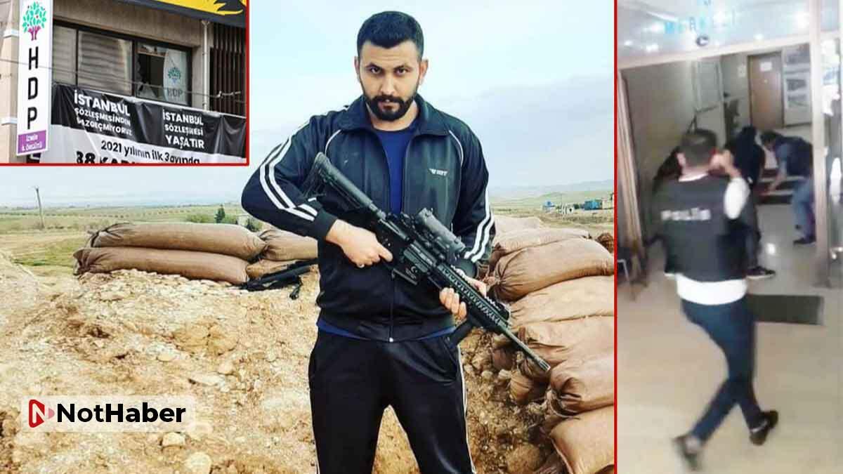 HDP binasına saldıran provokatörün yakalanma anı kamerada