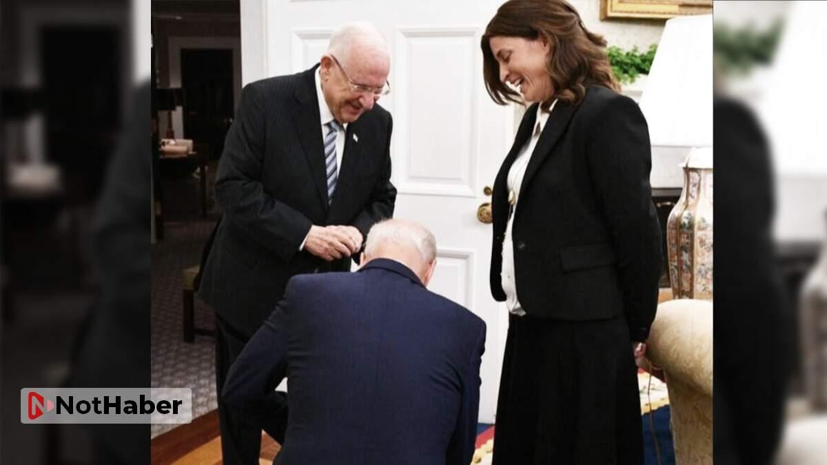 Joe Biden İsrail  önünde diz çöktü