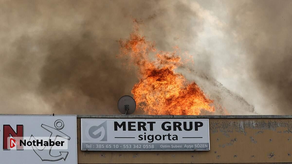 Ankara OSTİM'de yangın!