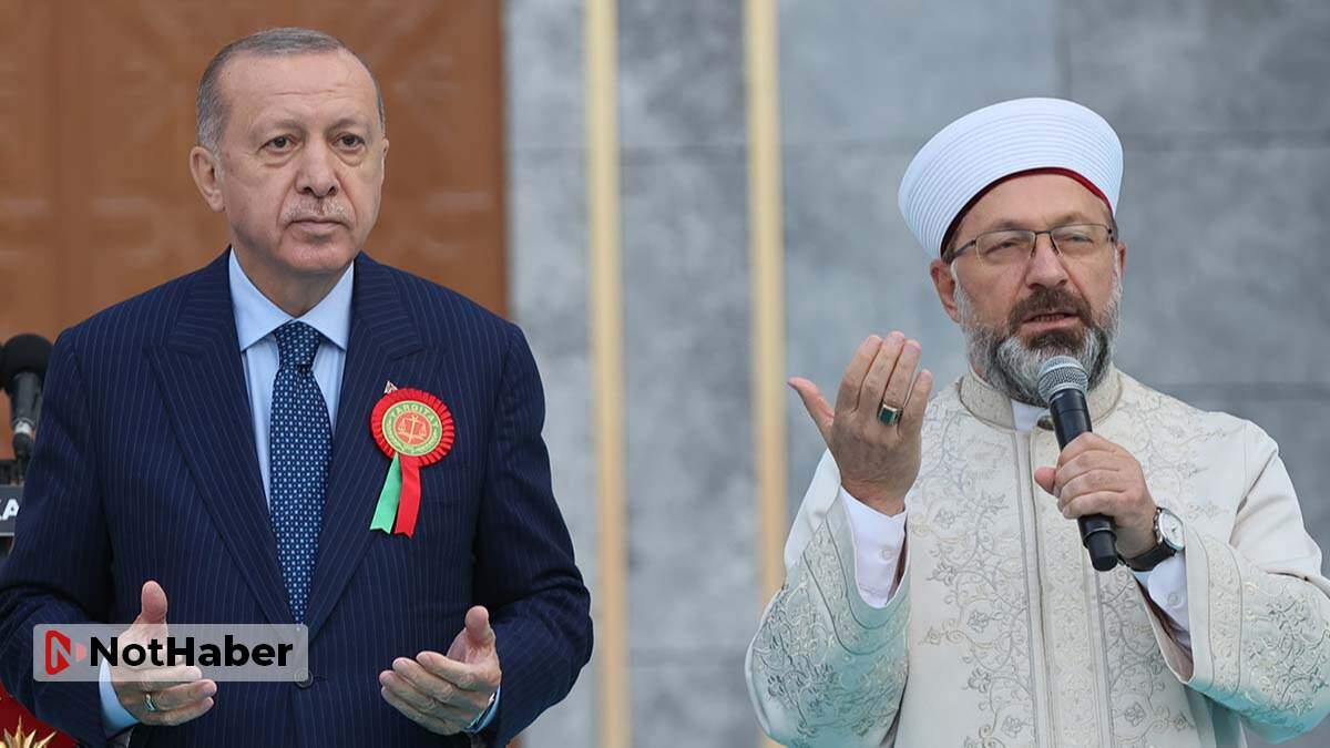 Erdoğan'dan Ali Erbaş'a destek!