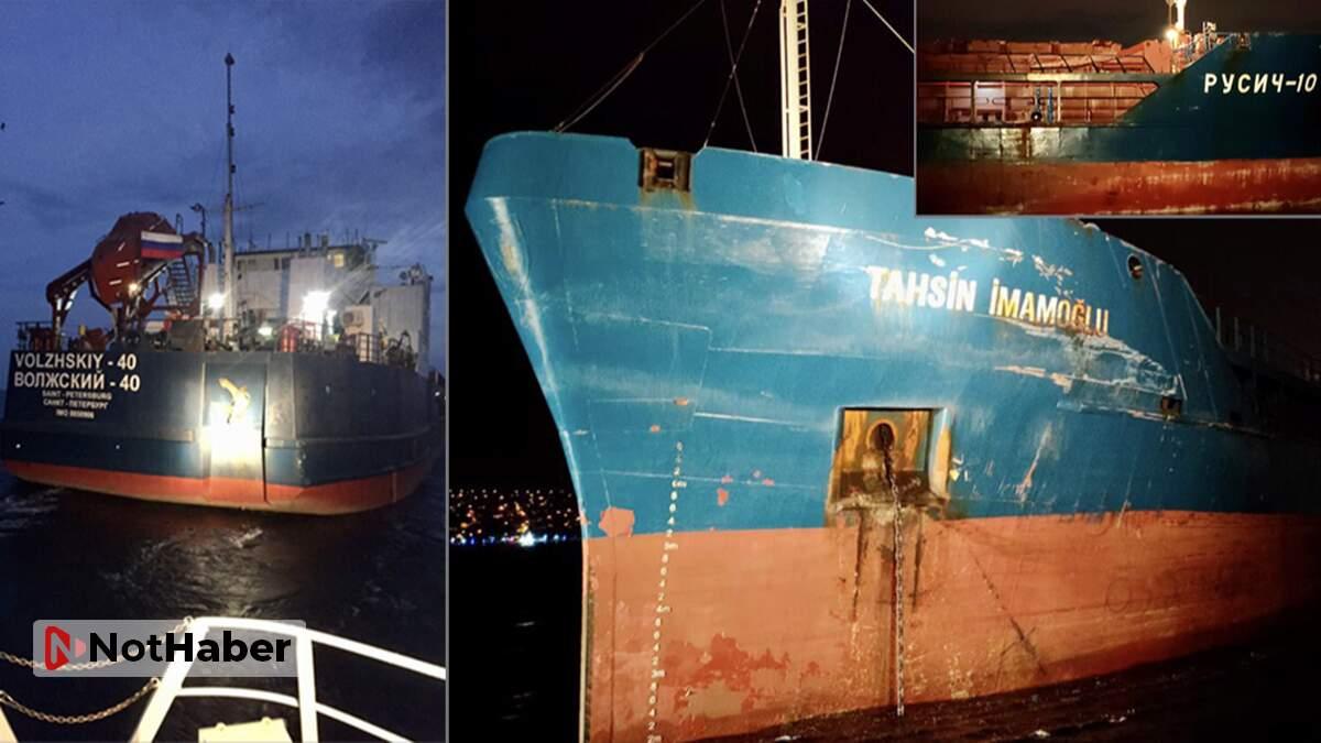 Boğaz'da art arda gemi kazaları!Ucuz atlatıldı