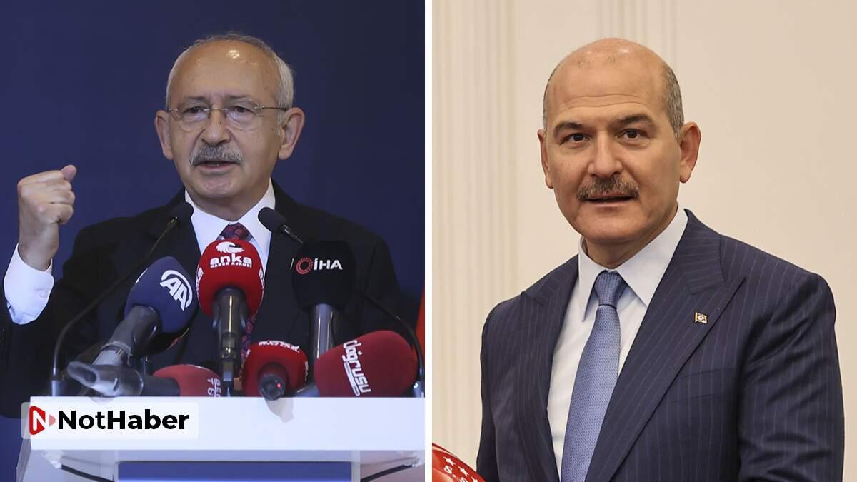 Kılıçdaroğlu'ndan Soylu'ya 'görevi bırak' çağrısı